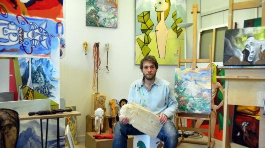 Dans mon atelier au 6B à Saint Denis le 16 avril 2014