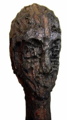 Bois sculpté, brou de noix et cire, 26 cm, 2014